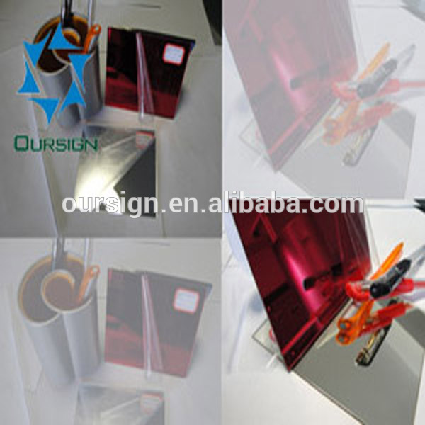1-6mm single side or doubled sided acrylic mirror sheet/ plexiglass mirror